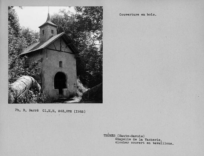 Couverture du clocher couvert en tavaillons