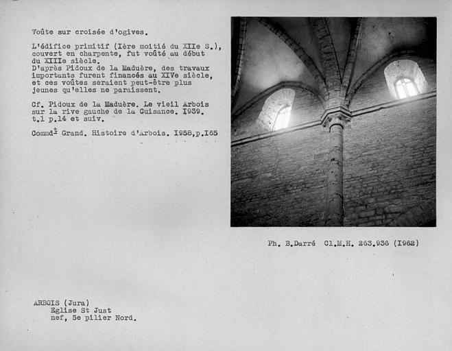 Chapiteau et départ de voûte du cinquième pilier nord de la nef