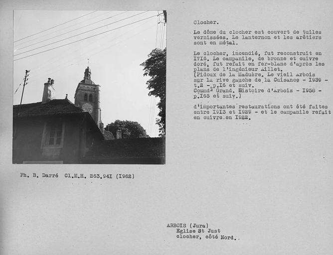 Couverture en fer blanc du clocher à lanternon restauré