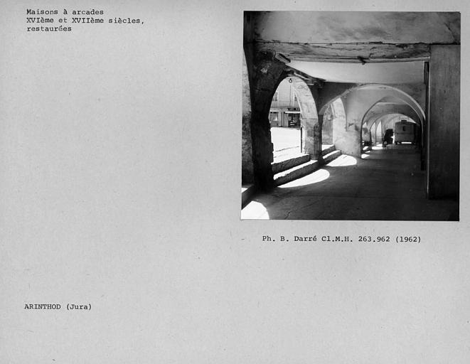 Vue intérieure des arcades