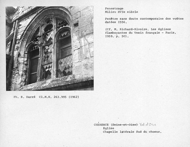 Fenestrage de la chapelle latérale sud du choeur