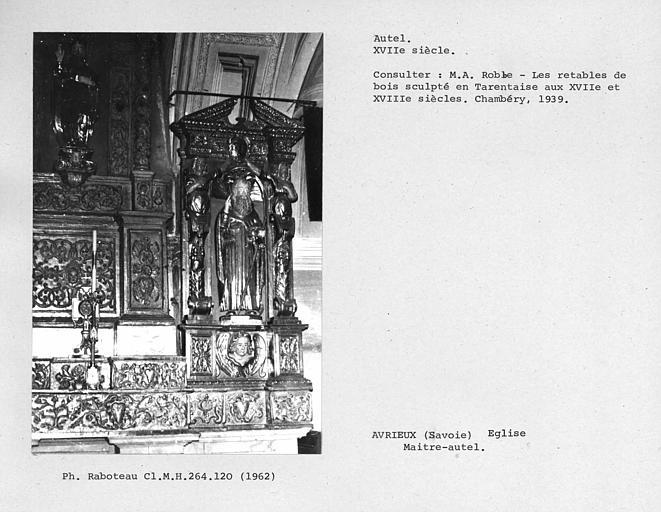 Retable du maître-autel du choeur, détail du côté droit