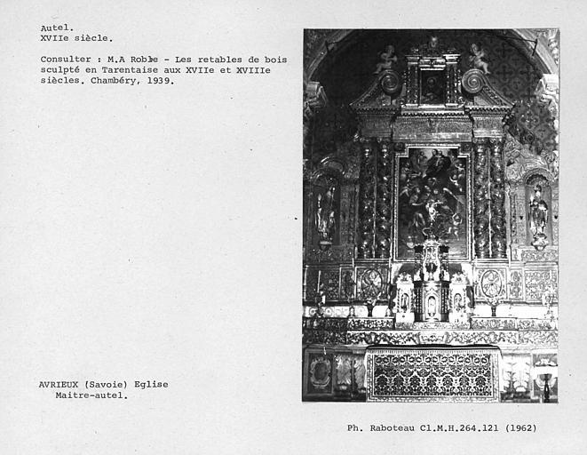 Retable du maître-autel du choeur, vue d'ensemble