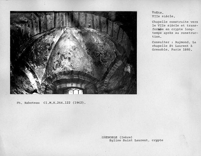 Côté est de la voûte d'abside de la crypte