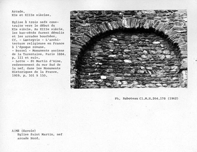 Arcade nord du mur de la nef