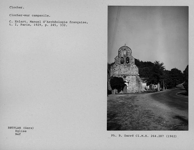 Clocher-mur campanile