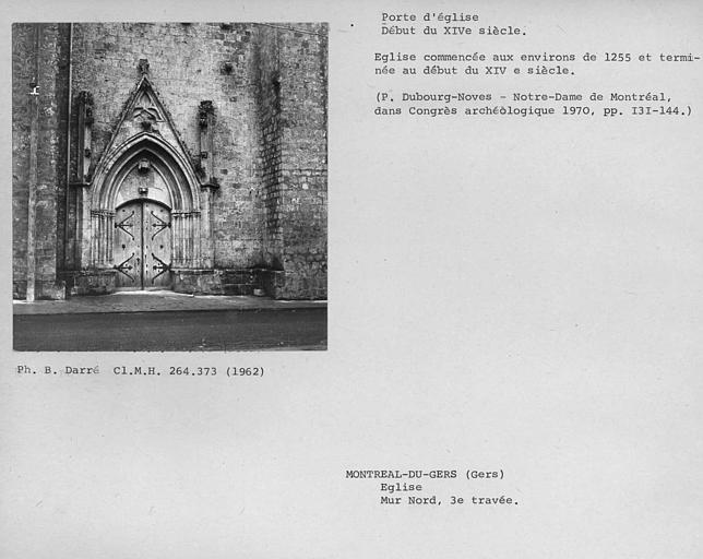 Porte nord de la façade latérale, troisième travée