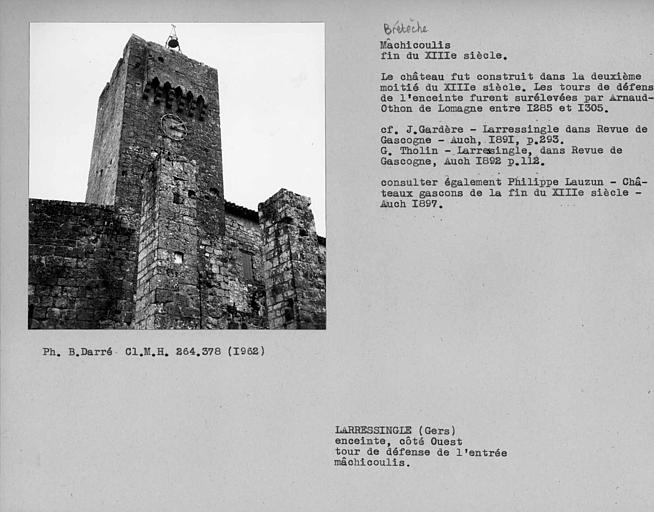 Mâchicoulis et bretèche de la tour du pont-levis