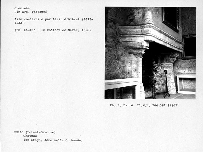 Cheminée restaurée de la quatrième salle au premier étage