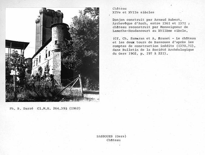 Château-fort. Donjon et échauguette nord-est de la façade est