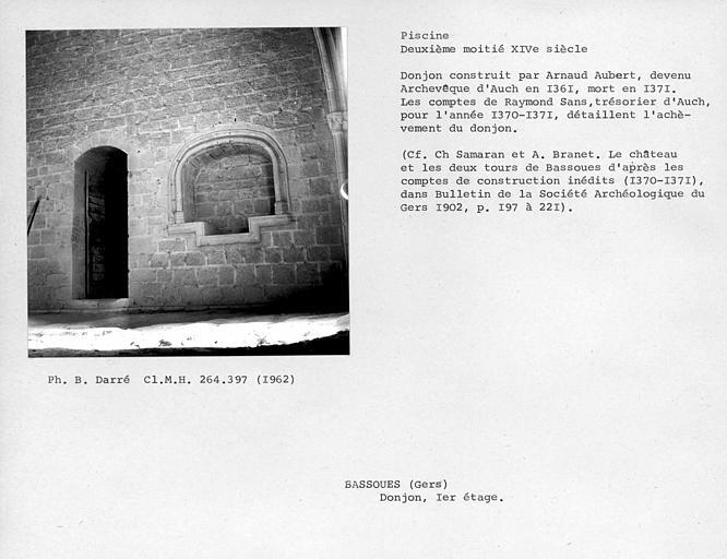 Piscine de la salle du premier étage du donjon