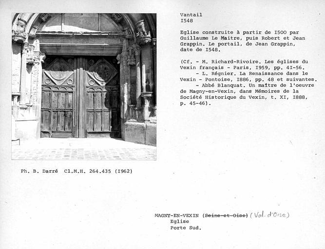 Vantaux du portail sud de la façade sud