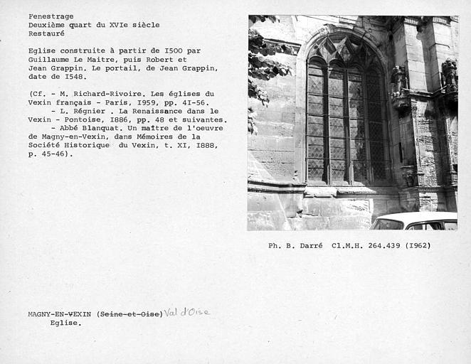 Fenestrage restauré de la première chapelle sud