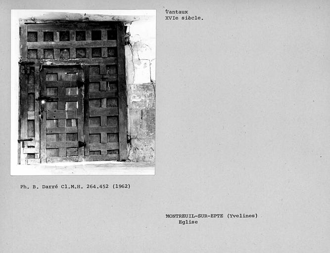 Côté intérieur des vantaux du portail sud de la nef