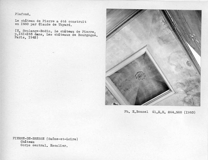 Corps central. Plafond de l'escalier monumental