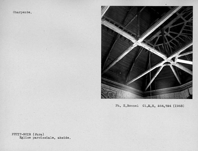 Charpente de la nef, détail