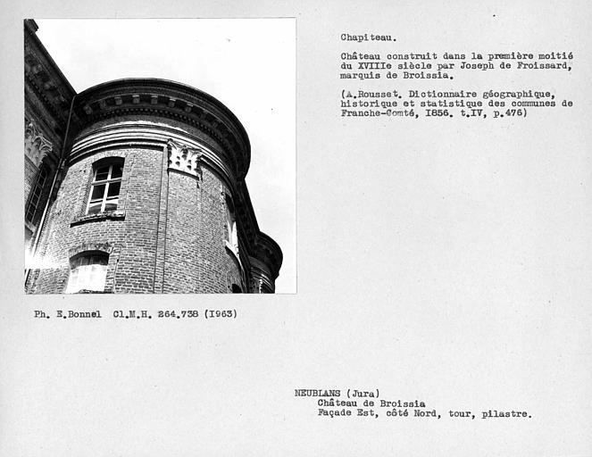 Chapiteau de la tour de la façade est
