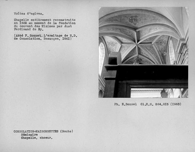 Voûte d'ogives de la nef de la chapelle