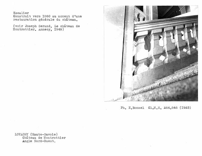 Balustres de l'escalier monumental