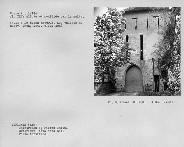 Extérieur de la porte fortifiée de la première enceinte, côté nord est