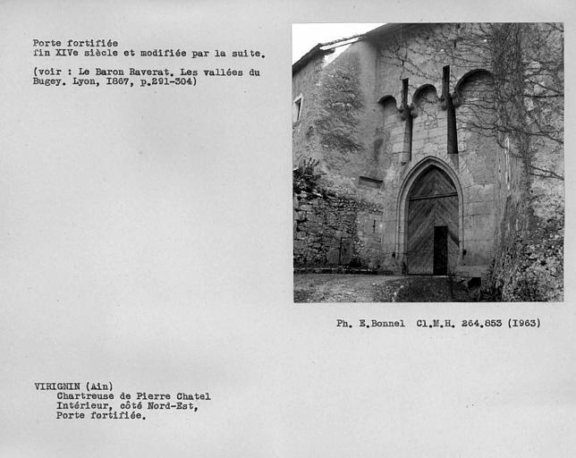 Extérieur de la porte fortifiée de la deuxième enceinte, côté nord-est
