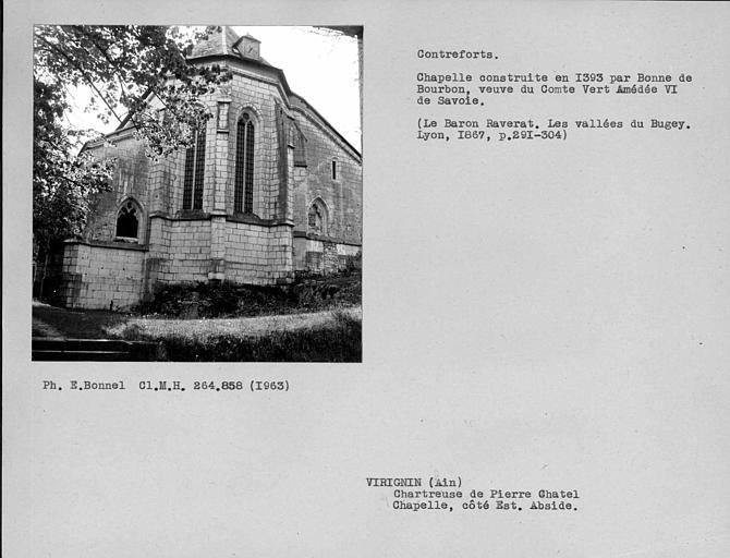 Contreforts du chevet de l'église