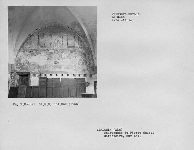 Peinture murale du mur est du réfectoire, la Cène