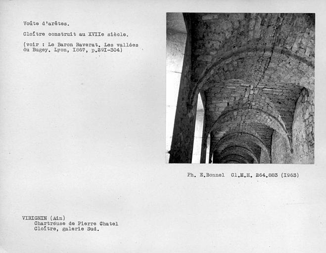 Voûte de la galerie sud du grand cloître
