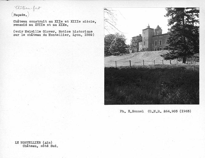 Château-fort remanié aux XVIIe et XIXe siècles. Côté sud