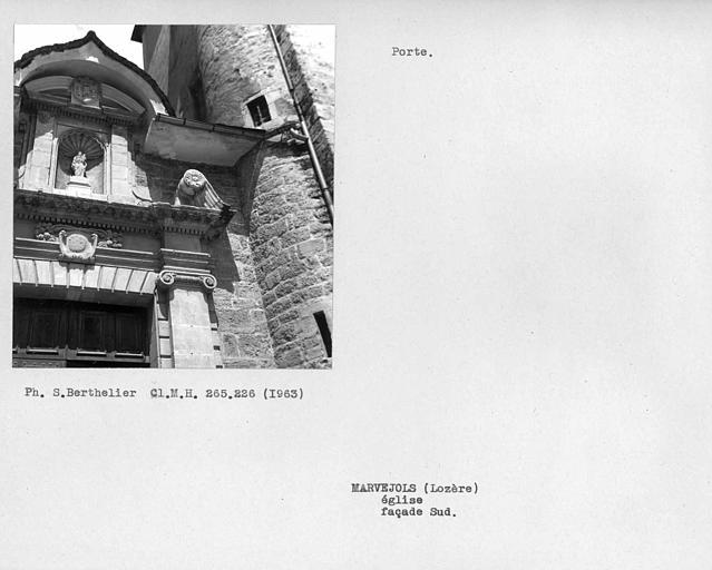 Détail de la porte de la façade sud