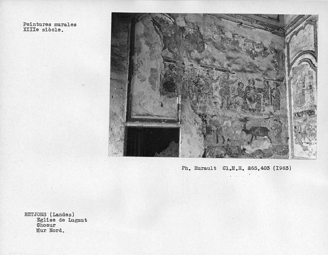 Peinture murale du mur nord du choeur, partie à droite de la porte