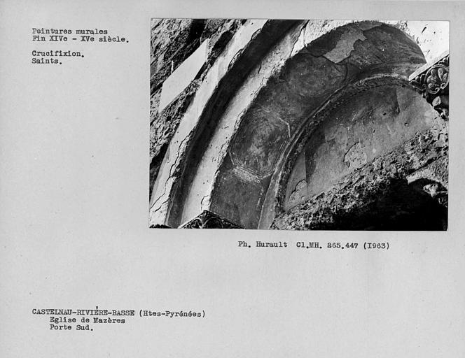 Peinture du tympan et de l'intrados de l'archivolte du portail sud
