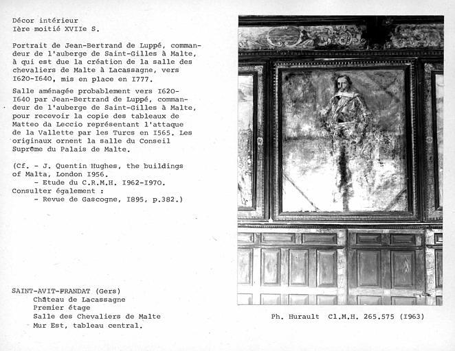 Décor de la salle des Chevaliers de Malte, troisième tableau du mur est