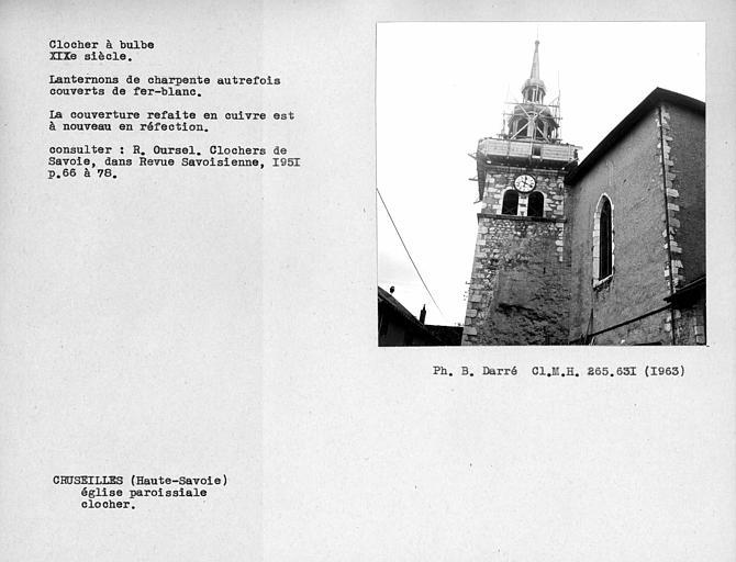 Couverture métallique du clocher à bulbe