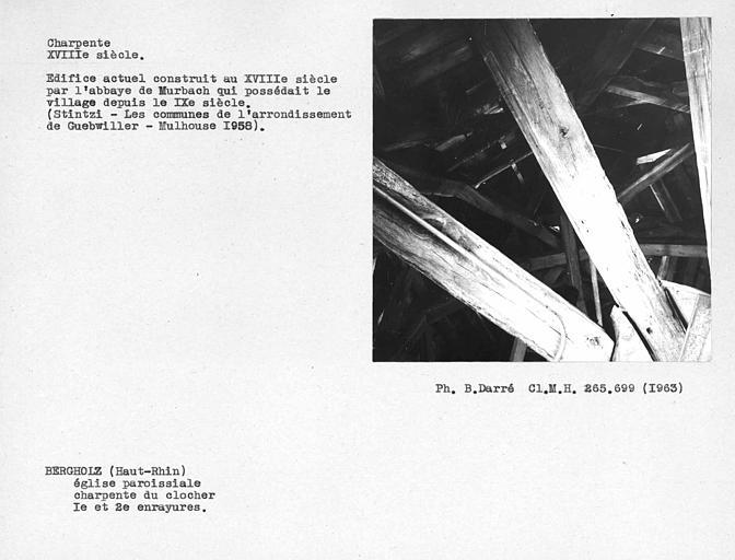 Charpente du clocher, première et deuxième enrayures