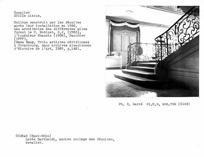 Rampe en fer forgé de l'escalier d'honneur, départ au rez-de-chaussée