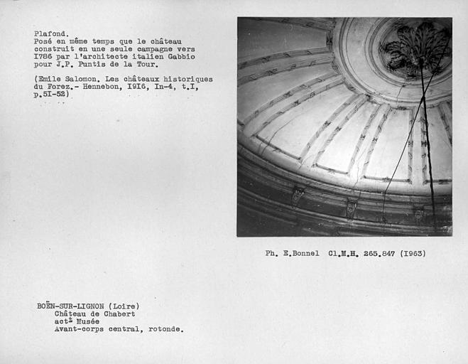 Coupole en plâtre de la rotonde centrale