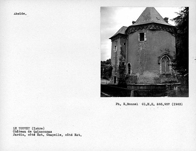Jardin et chapelle côté est