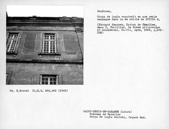 Fenêtres de la façade sud