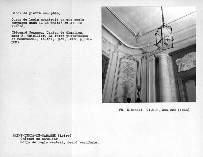 Décor de pierre sculptée du vestibule de la façade nord