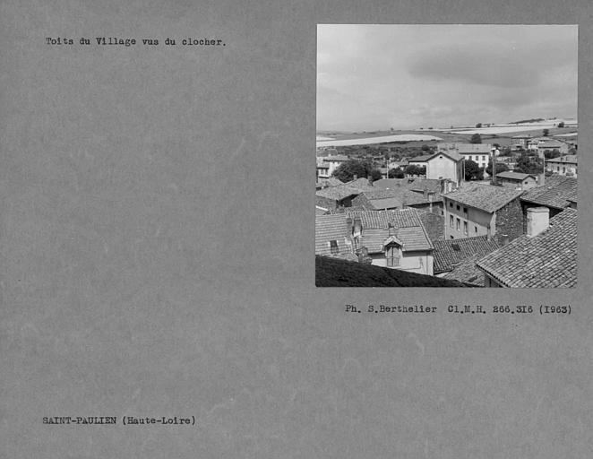 Toits du village vus du clocher