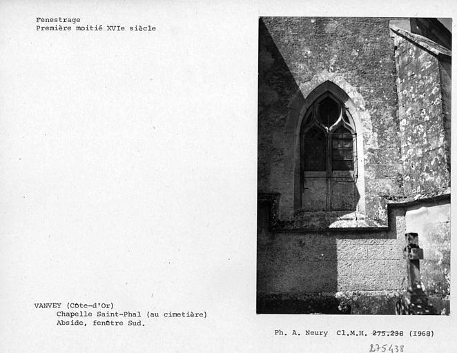 Fenêtre sud à l'extérieur de l'abside, fenestrage