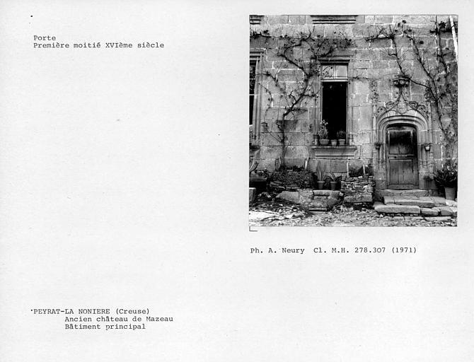 Porte et fenêtre du bâtiment principal