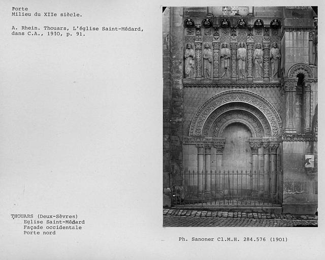Porte nord de la façade occidentale