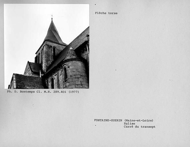 Flèche torse du clocher