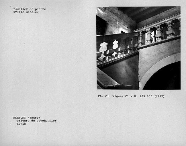 Escalier de l'ancien logis prioral