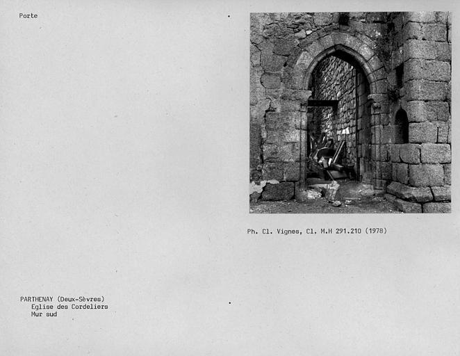 Porte du mur sud
