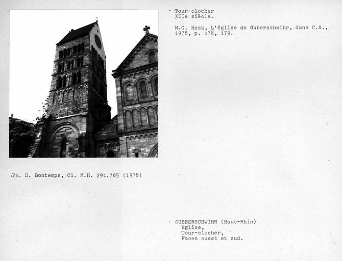Tour-clocher, face ouest