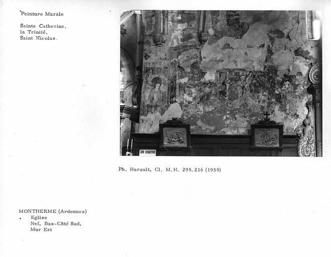Ensemble des peintures murales du mur sud du bras sud du transept