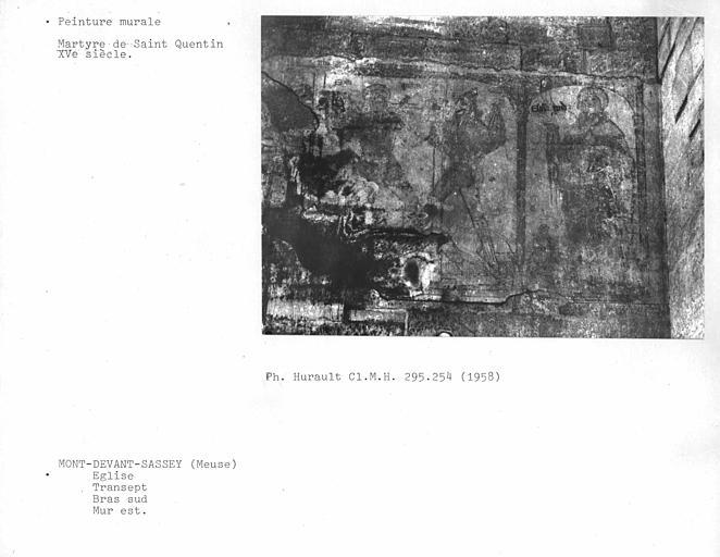 Mur est du bras sud du transept : Martyre de Saint-Quentin, ensemble